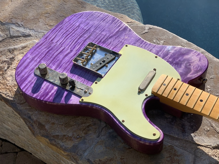 Real Life Relics Custom Shop Loaded T Body Trans Purple Nitro Lacquer Fender® Pickups