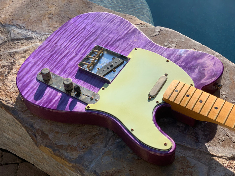 Real Life Relics Custom Shop Loaded Telecaster Body Trans Purple Nitro Lacquer Fender Pickups