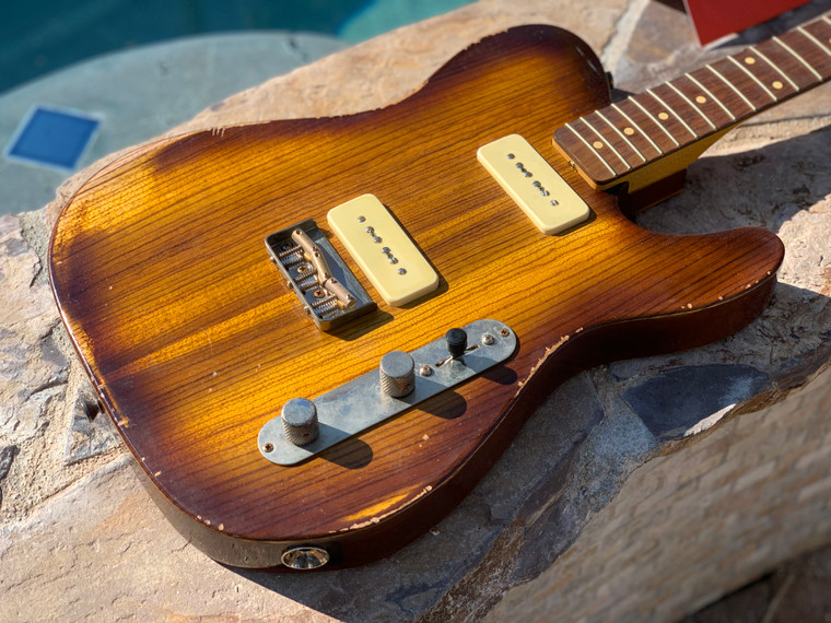 Real Life Relics Custom Shop Loaded T Body Zebrawood Top Vintage Burst Nitro Lacquer P90's