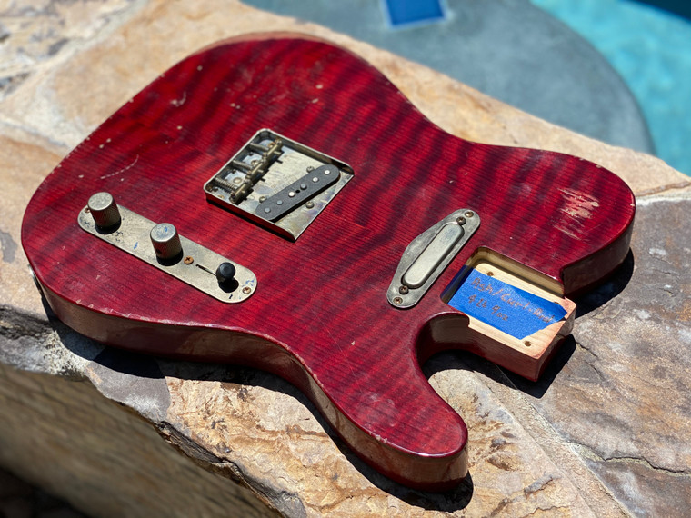 Real Life Relics Custom Class Loaded T Body Trans Deep Red Curly Redwood Nitro Lacquer Fender® Pickups
