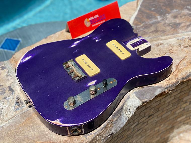 Real Life Relics Custom Class Loaded T Body Grape Jelly Purple Nitro Lacquer P90's