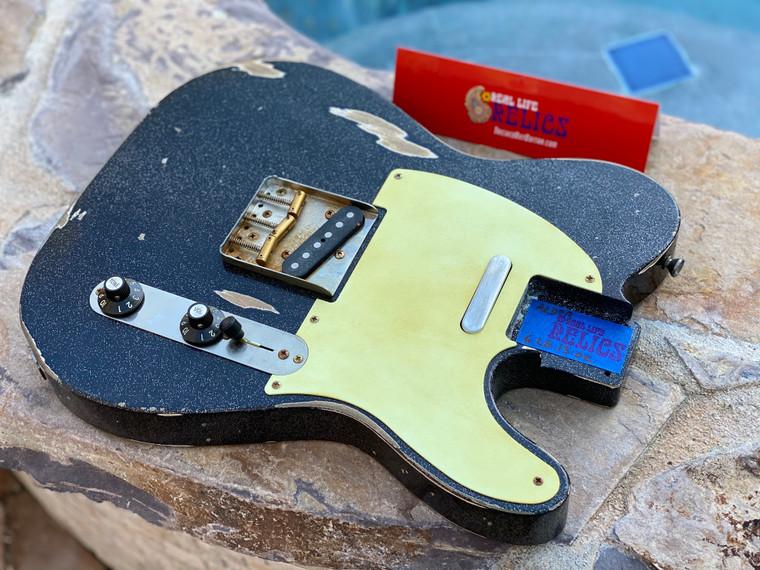 Real Life Relics  Custom Shop Loaded T Body Black Prism Flake Nitro Lacquer Fender® Pickups