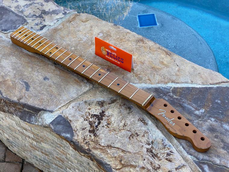 "Real Life Relics #1 Fender® Roasted Maple Vintera® Mod '50's Telecaster® Neck 21 Medium Jumbo Frets 9.5"" ""V"" Shape 0999862920"