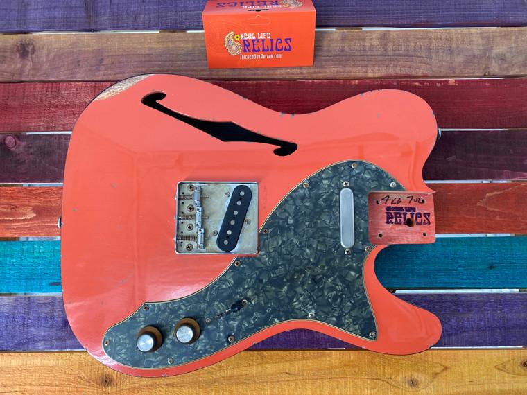 Real Life Relics. Fully Loaded 69 Tele® T Body Aged Tangerine Orange
