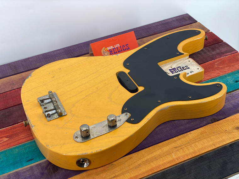 Real Life Relics Custom Fully Loaded 51 P Bass Body Aged Butterscotch Blond