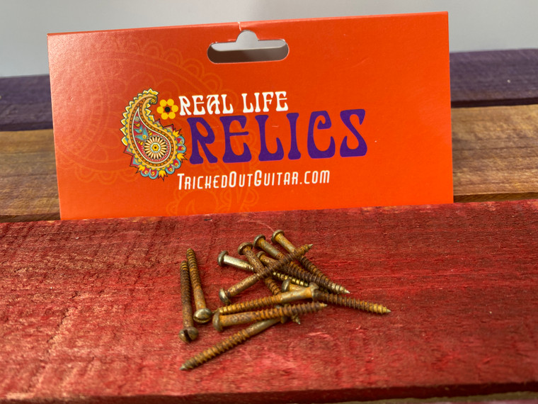 Real Life Relics  Fender Replacement Aged Nickel Slot Head Screws