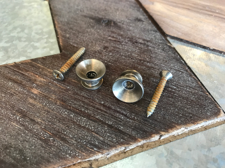 Real Life Relics Aged Nickel Vintage Strap Buttons (Set of 2)