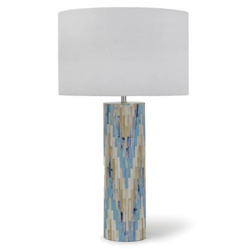 Aqua Mosaic Lamp