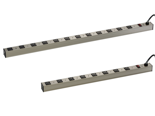 8 and 12 port commercial grade power strips