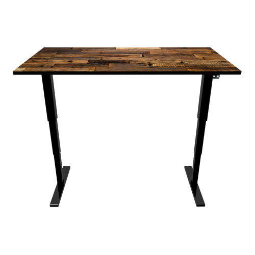 Reclaimed Wood Sit-Stand Desk