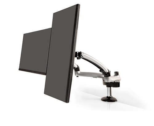 Freedom Dual Monitor Arm (Silver)