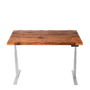 Standing desk with black walnut natural wood top