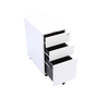 White locking file cabinet open