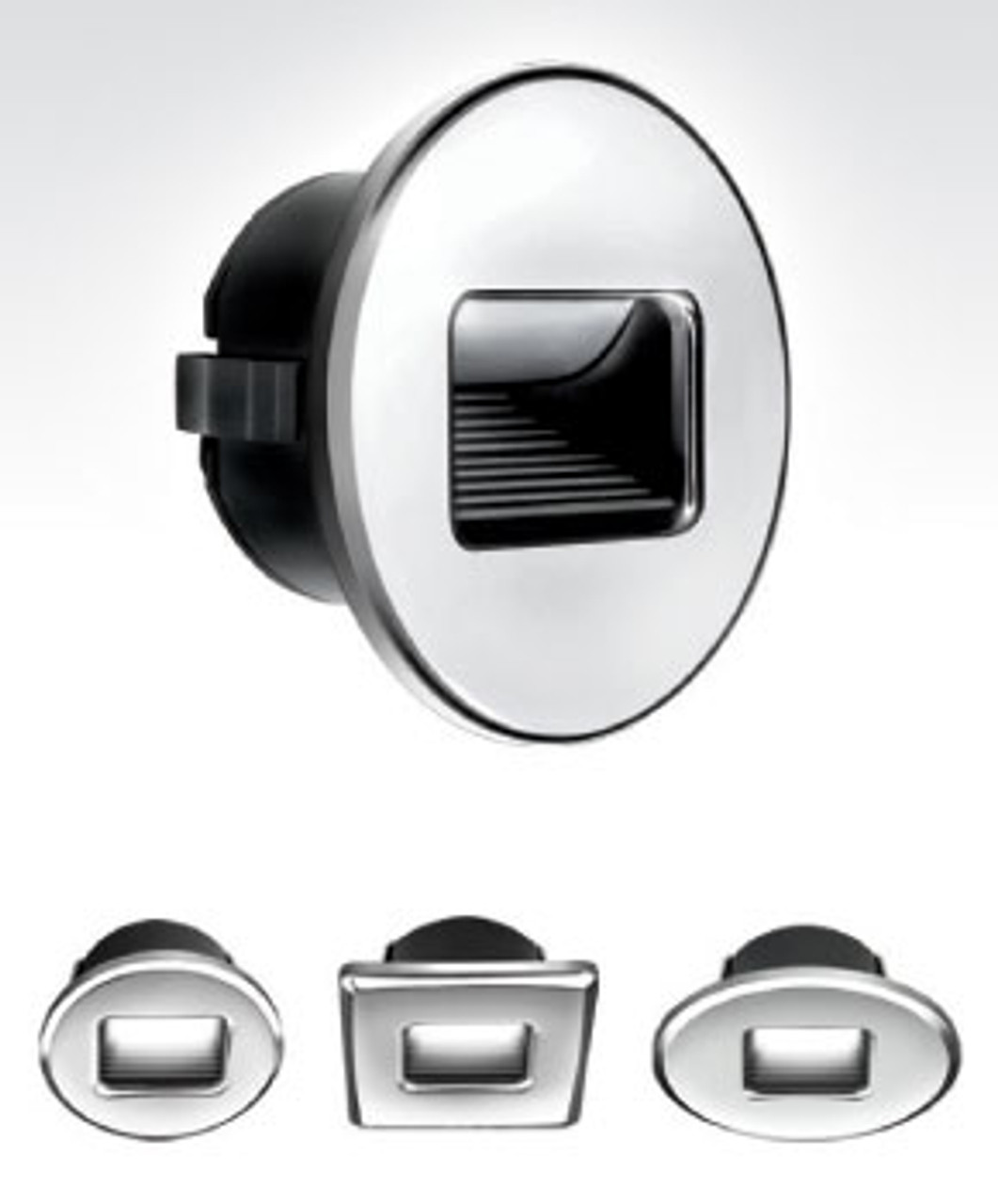 Accent and Utility Light for Boats Chrome Plated Plastic Fixed Mount Courtesy