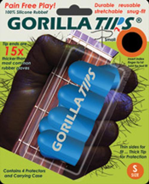 Gorilla Tips Fingertip Protectors Blue Size Small [Alf:98-GT101BLU]