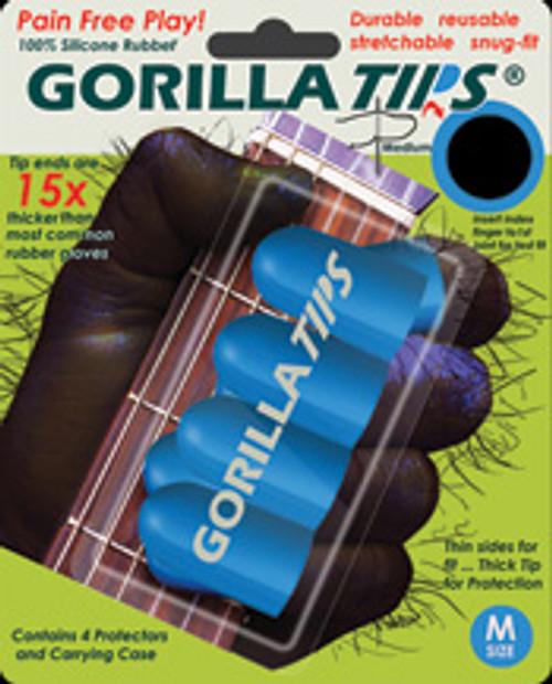 Gorilla Tips Fingertip Protectors Blue Size Medium [Alf:98-GT102BLU]
