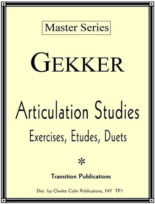 Gekker, Articulation Studies [Colin:TP1)