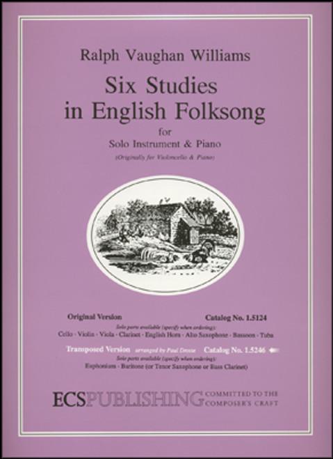 Vaughan Williams, Six Studies in English Folksong (Score & Part) [ECS:1.5246]