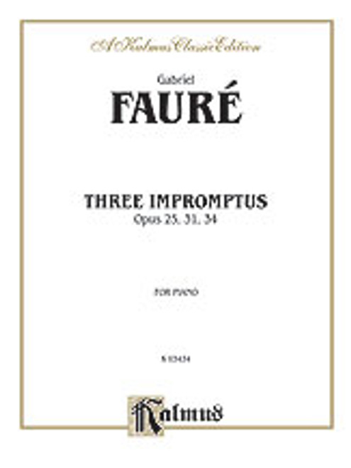 Faure, Three Impromptus [Alf:00-K03434]