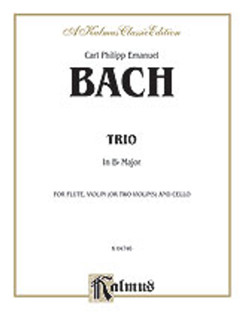 Bach, C.P.E. - Trio in B-Flat for Two Violins [Alf:00-K04746]