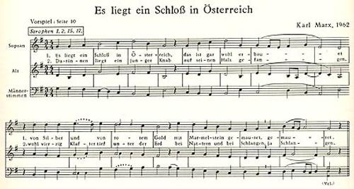 A Castle in Austria (a short cantata, German text) -sc [Mag:MK00282]