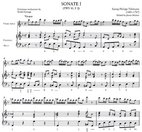 Telemann, Sonatas I, TWV 41: F 2 (Urtext edition) - ScP [Mag:Z013542]