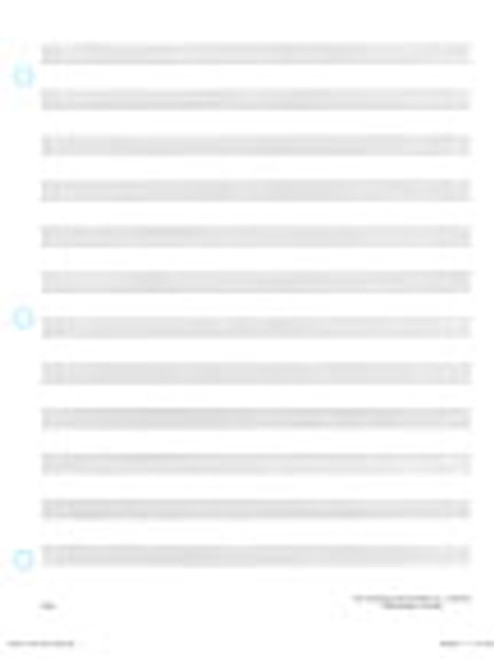 """Loose Leaf (40 pages) - 12 stave, 40 pages, printed on both sides, 3-hole punched, 81/2"""" x 11"""" FH:MS6[MS]"""