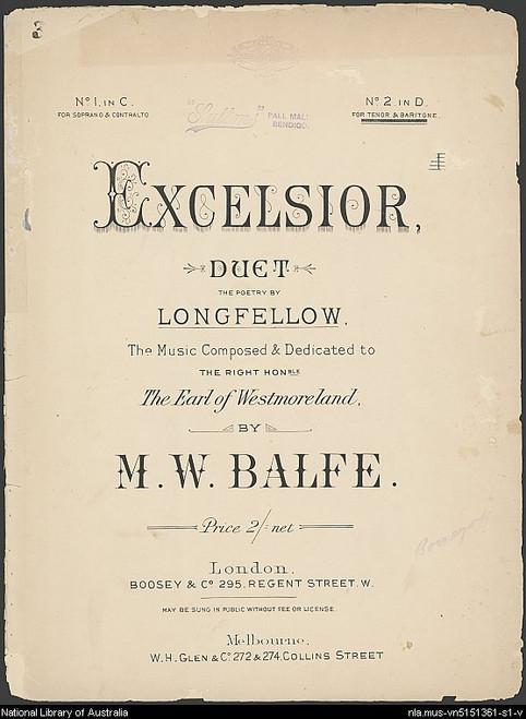 Balfe - Excelsior [NM:01]