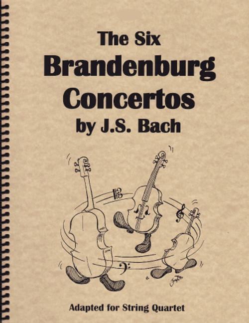 Six Brandenburg Concerti - for String Quartet (2 Violins, Viola and Cello) [LR:10100]