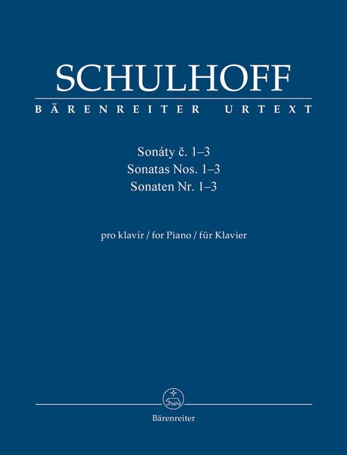 Schulhoff, Sonatas for Piano Nr. Nos. 1-3