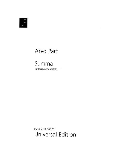 Part, Summa [CF:UE034376]