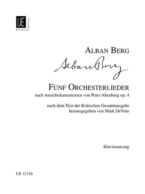 Berg, Altenberg Lieder, Op. 4 Vocal [CF:UE012126]