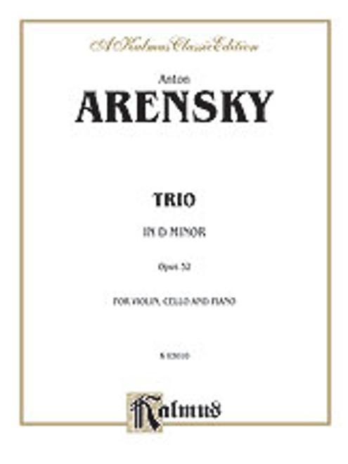 Arensky, Trio in D Minor, Op. 32 [Alf:00-K03010]