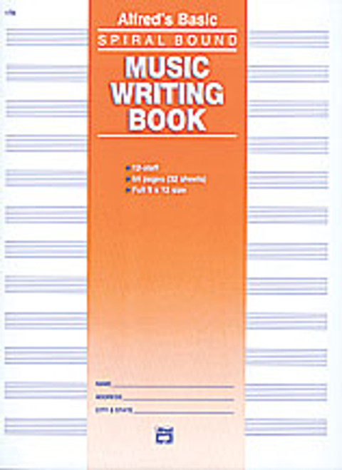 "12 Stave Music Writing Book (9"" x 12"")  [Alf:00-179]"