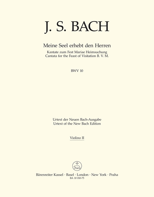 Bach, J.S., Now my soul exalts the Lord BWV 10 -Cantata for the Feast of Visitation B. V. M.- [Bar:BA10010-75]