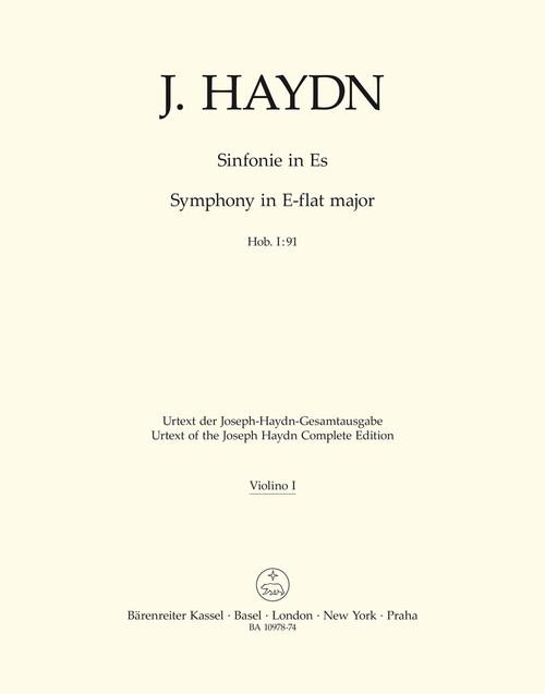 Haydn, Symphony Nr. 91 E-flat major Hob. I:91 [Bar:BA10978-74]