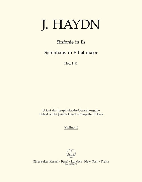 Haydn, Symphony Nr. 91 E-flat major Hob. I:91 [Bar:BA10978-75]