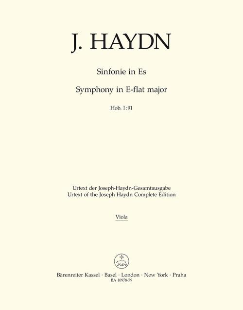 Haydn, Symphony Nr. 91 E-flat major Hob. I:91 [Bar:BA10978-79]