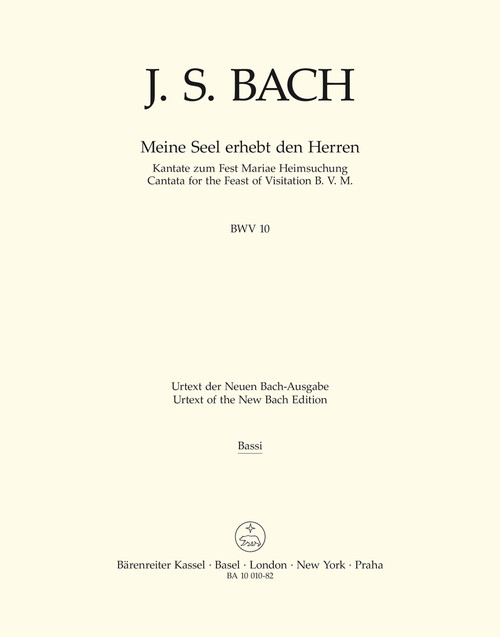 Bach, J.S., Now my soul exalts the Lord BWV 10 -Cantata for the Feast of Visitation B. V. M.- [Bar:BA10010-82]