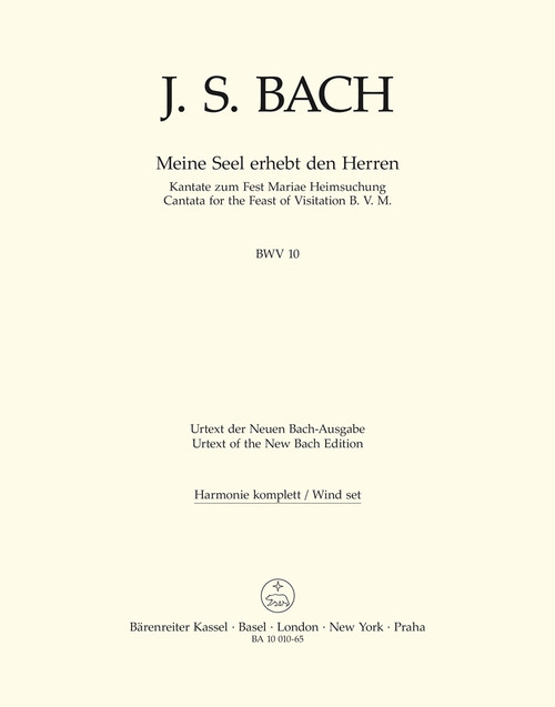Bach, J.S., Now my soul exalts the Lord BWV 10 -Cantata for the Feast of Visitation B. V. M.- [Bar:BA10010-65]
