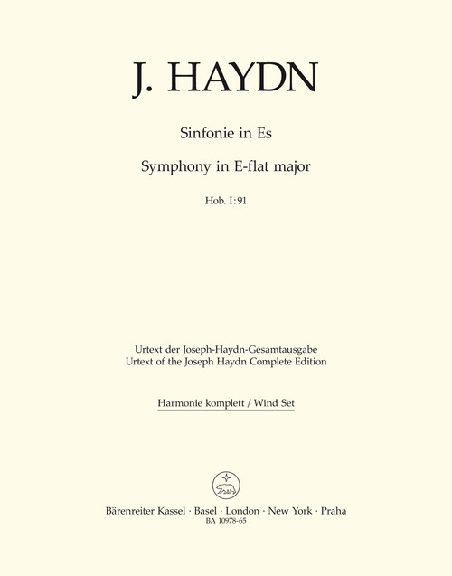 Haydn, Symphony Nr. 91 E-flat major Hob. I:91 [Bar:BA10978-65]