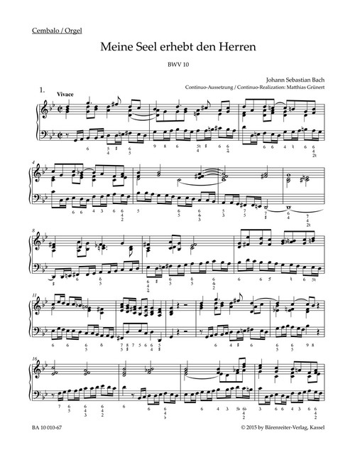Bach, J.S., Now my soul exalts the Lord BWV 10 -Cantata for the Feast of Visitation B. V. M.- [Bar:BA10010-67]