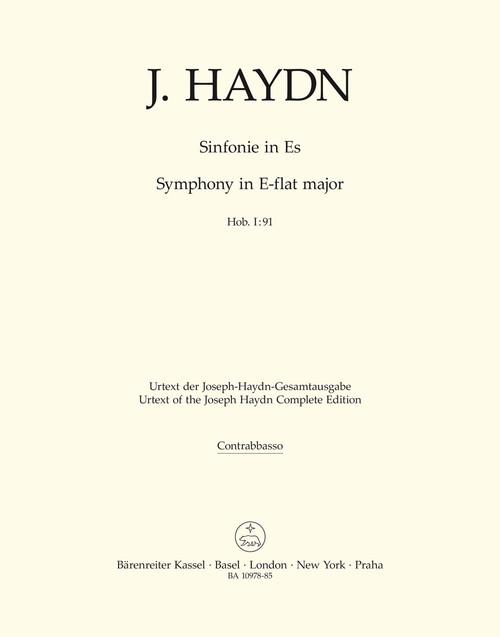 Haydn, Symphony Nr. 91 E-flat major Hob. I:91 [Bar:BA10978-85]