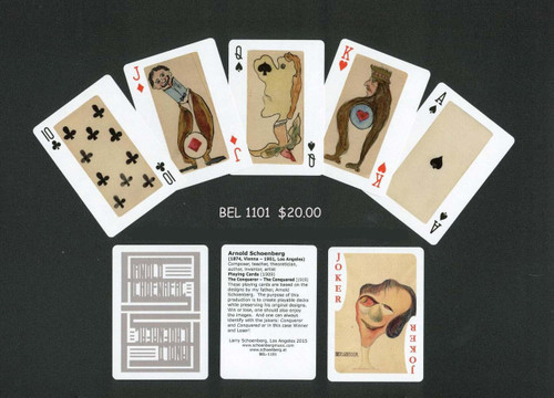 Arnold Schoenberg Playing Cards - Cariacature [Bel:1101]