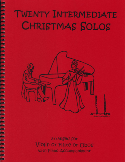 20 Intermediate Christmas Solos for Flute, Oboe or Violin and Piano [LR:40043]