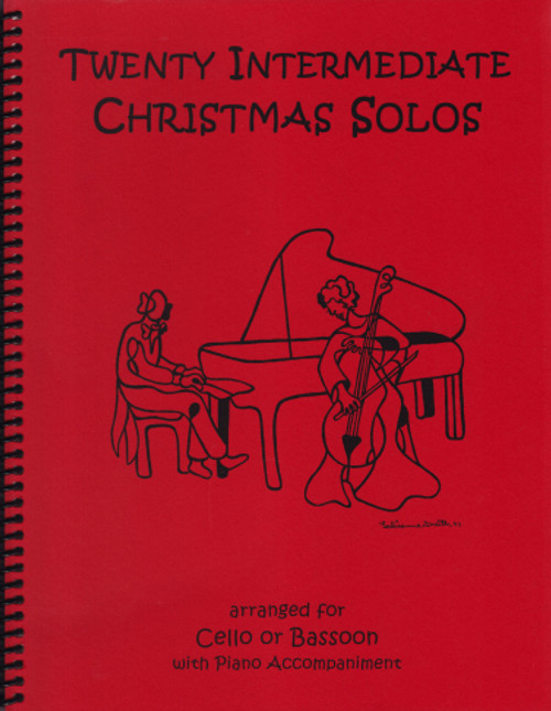 20 Intermediate Christmas Solos - Cello or Bassoon and Piano  [LR:40045]