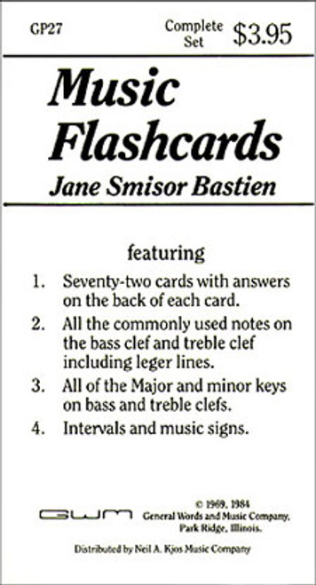 BASTIEN MUSIC FLASH CARDS [KJOS:GP27]