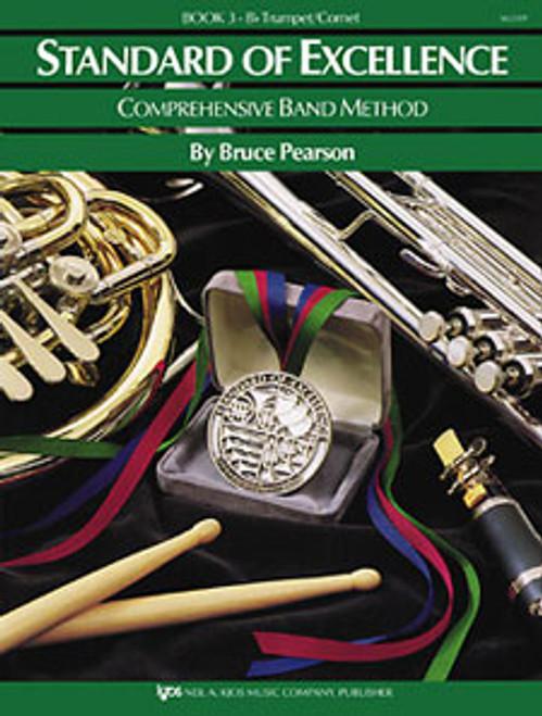 PEARSON, Standard Of Excellence Bk 3, Trumpet/Cornet- [KJOS:W23TP]