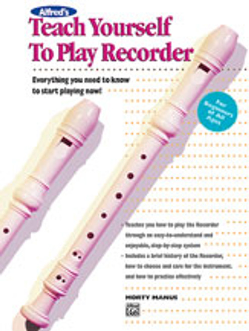 Alfred's Teach Yourself to Play Recorder  [Alf:00-4651]