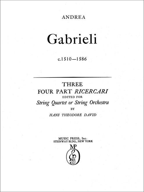 Gabrieli, Three Four-part Ricercari[CF:154-40018]